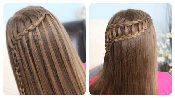 Peinados Para El Colegio Sencillas Ideas Que Te Encantaran Peinados Con Trenzas Trenzas De Ninas Peinado Trenza Cascada