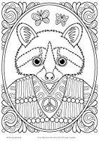 Amazon Hippie Animals Coloring Book Is Fun Design Originals