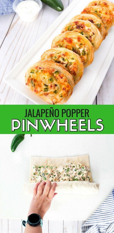 Jalapeno Popper Baked Pinwheels | Elle Talk