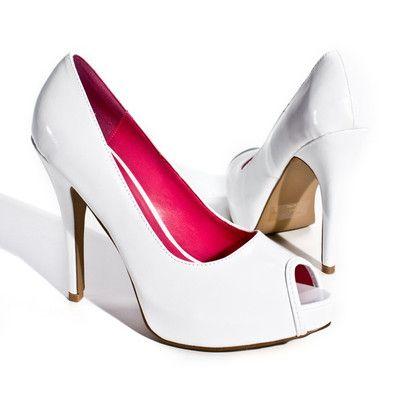 SZ 5.5 Womens High Heel Platform Glitter Pumps Stilettos Party Shoe WHITE Bridal