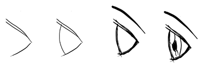 How To Draw Anime Manga Eyes In Profile Side View 4 Techniques In Drawing Tutorial How To Draw Step By Step Drawing Tutorials Manga Eyes Drawings Eye Drawing
