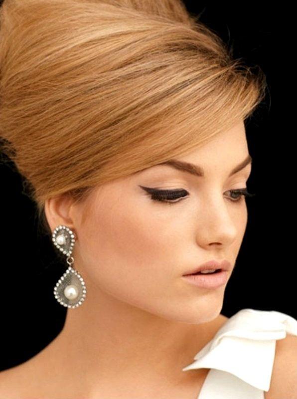 Bride S Sleek Retro Bouffant Updo Bridal Hair Ideas Toni Kami Wedding Hairstyles ➀ Hairstyle