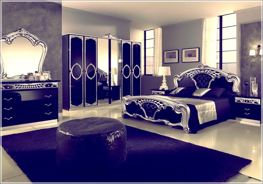 Royal Blue And Silver Bedding أحدث ديكورات لغرف النوم عصرية مميزة