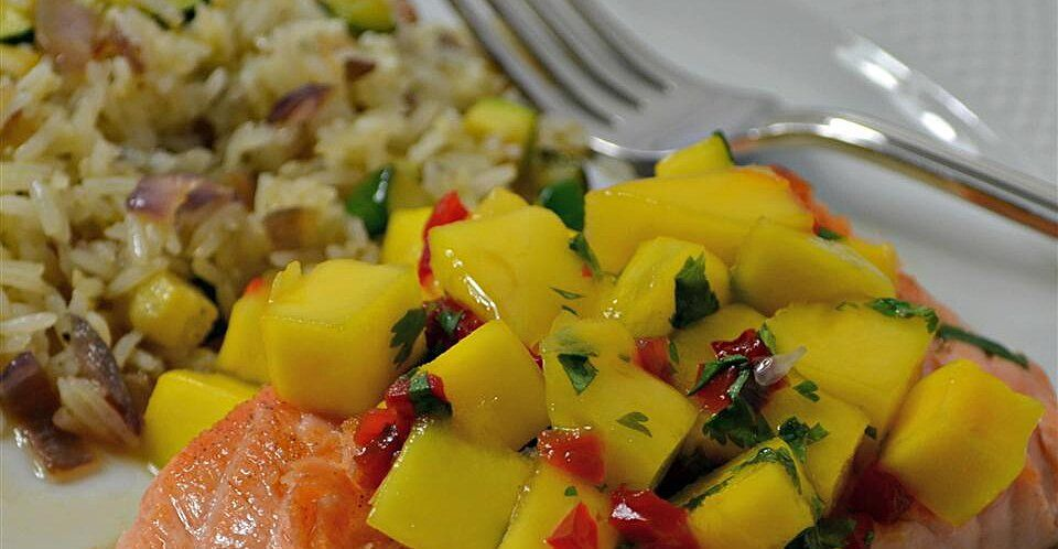 Chef John S Salmon Mango Bango Recipe Salmon Recipes Seafood Dinner Susan Recipe