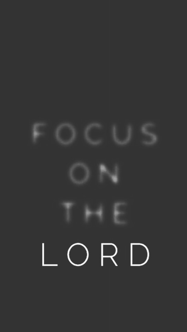 Focus On Him For He Will Make Your Path Straight When We