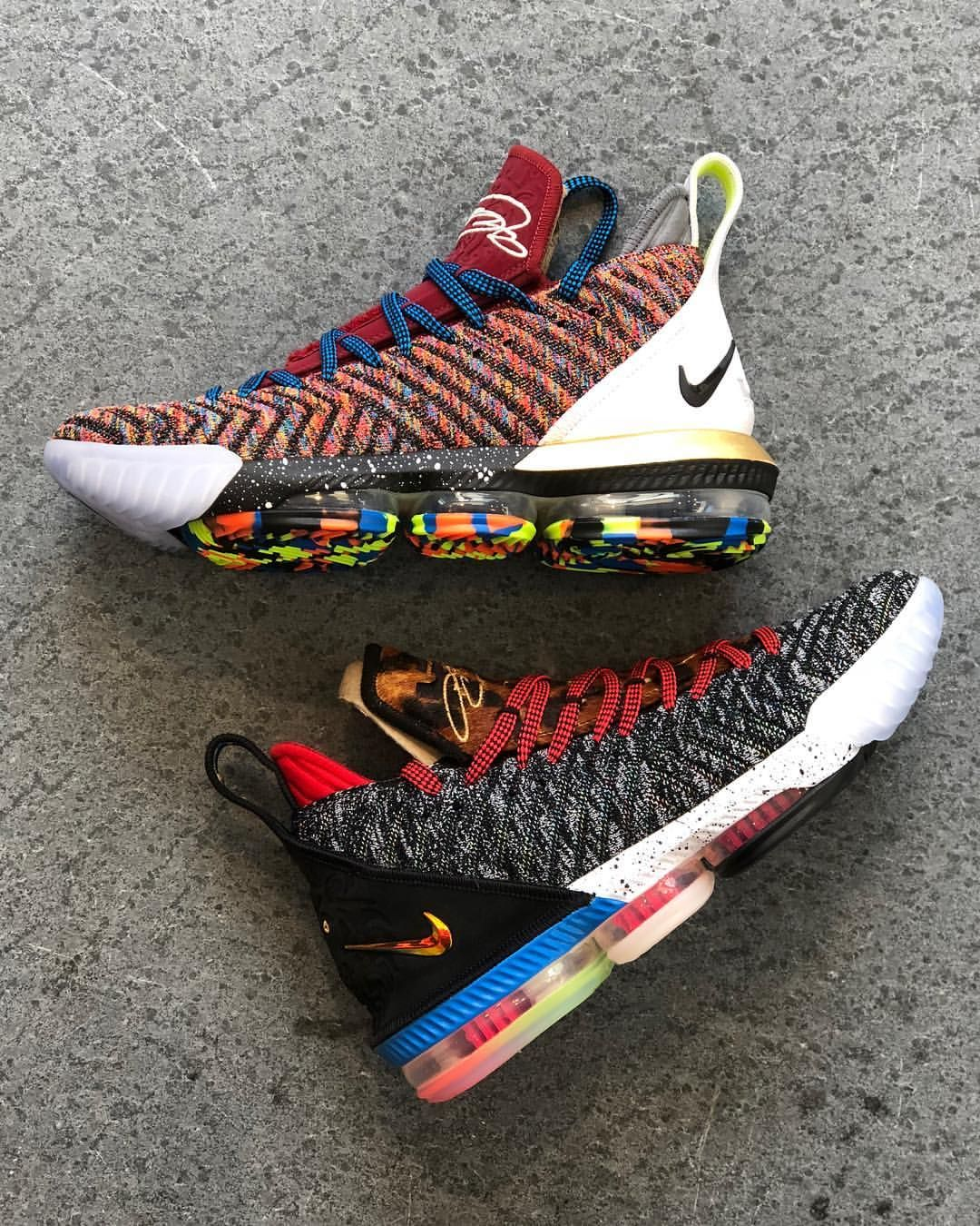"""6f81213e9682c The Nike LeBron 16 """"1 Thru 5"""" draws in elements of the first five ..."""