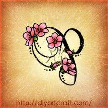 Letter P Tattoo