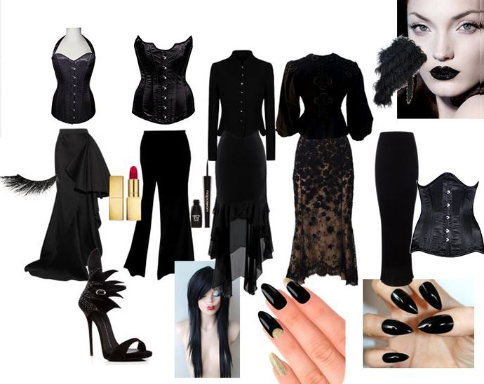 morticia addams Halloween costume with corset