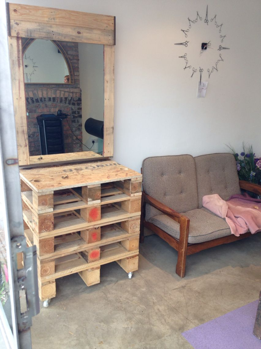 Our New Barbering Work Station Crafted From Recycled Pallets