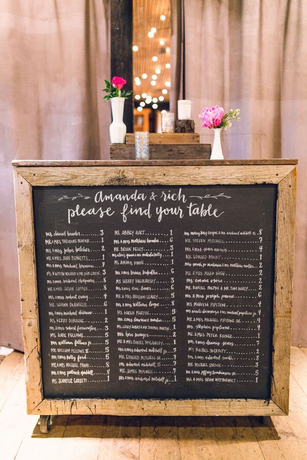 Colorful Wedding At Terrain Wedding Escort Cards Wedding