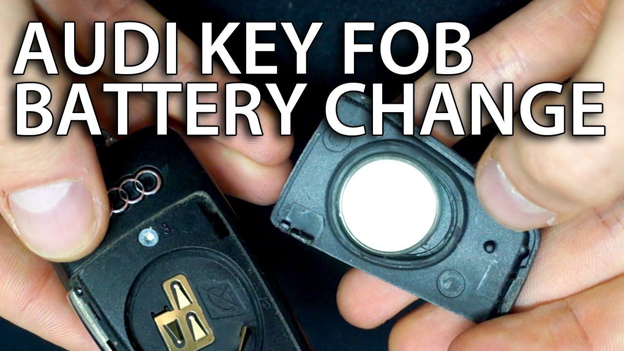 How to change battery #Audi flip key fob remote (A3 #A4 A5