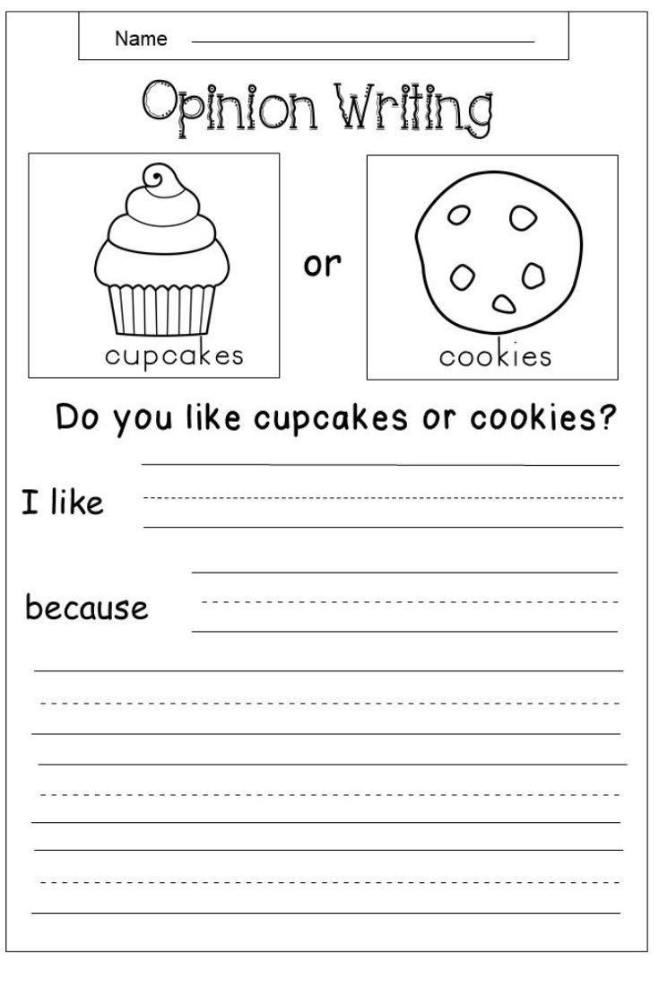 5 Kindergarten Worksheets Food Free Opinion Writing Printable School Ideas    Kindergarten writing prompts [ 1102 x 735 Pixel ]
