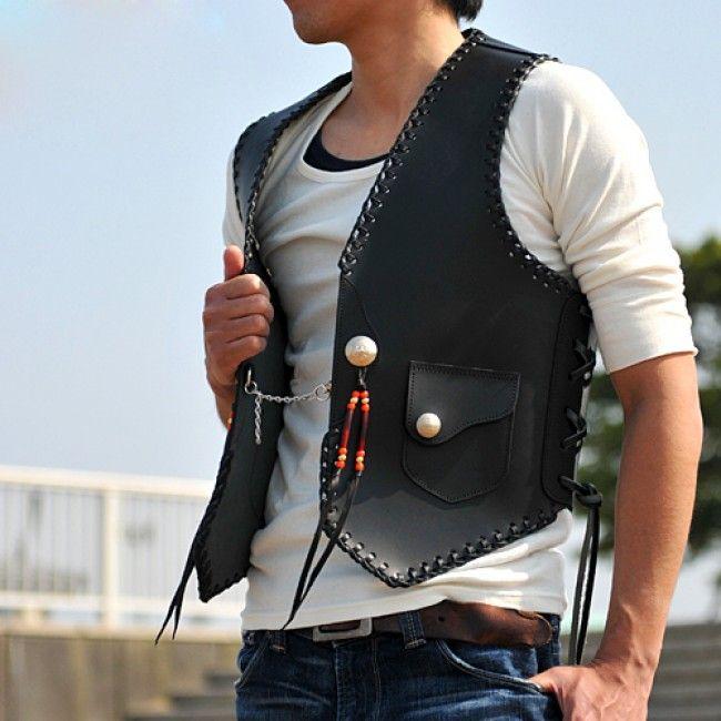 Leathercraft pattern 5 sizes vest pattern Leather tooling pattern ...
