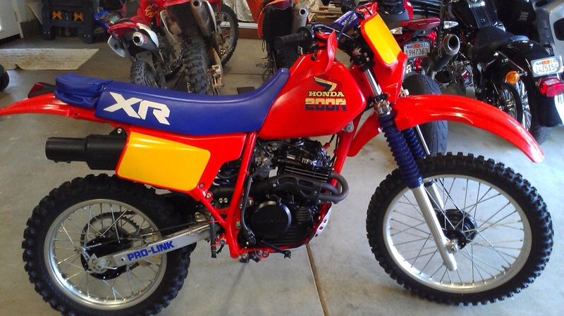 An Immaculate 1985 Honda Xr200 R Enduro Motorcycle Youth Dirt Bikes Dirtbikes