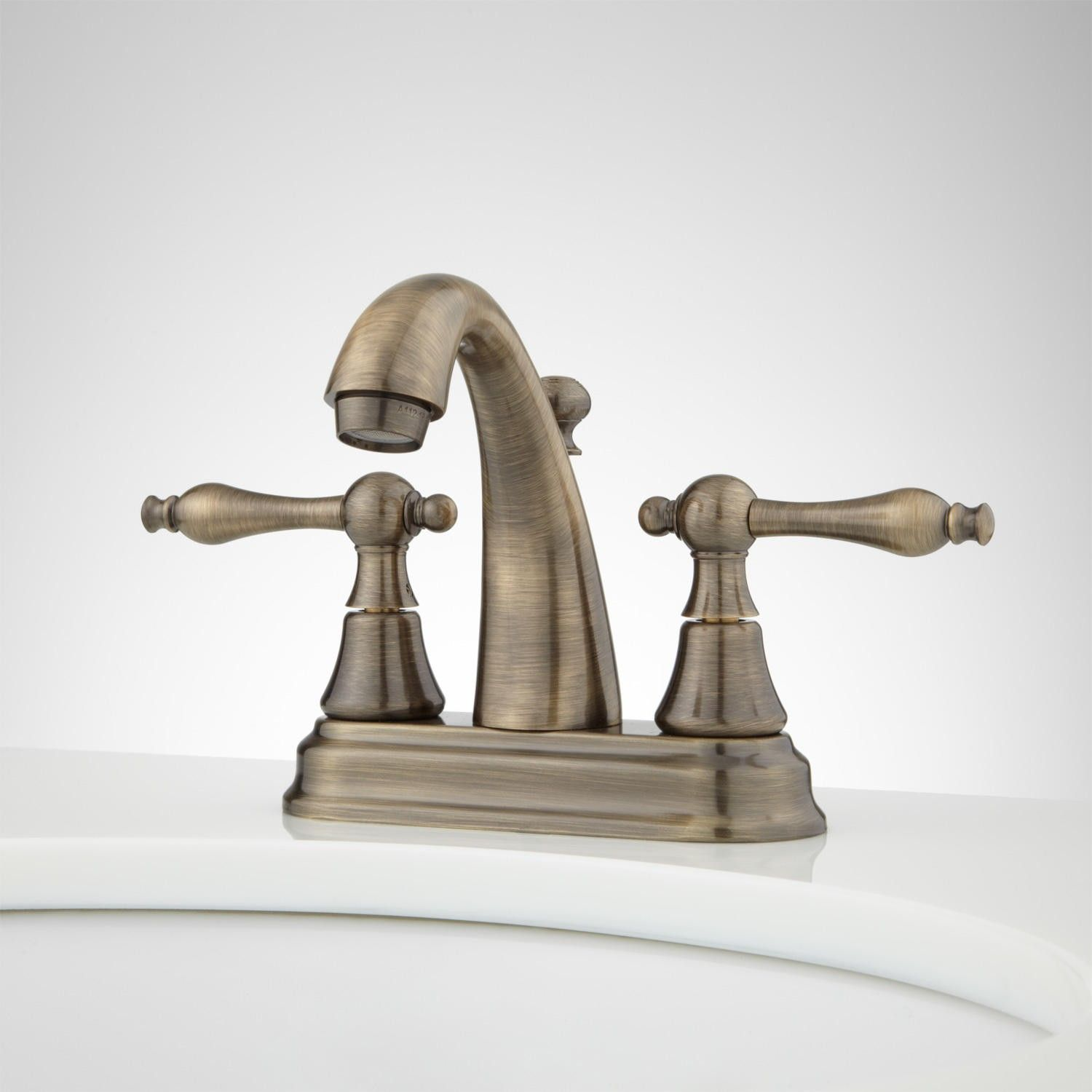 Dalles Centerset Gooseneck Bathroom Faucet | Faucet, Bathroom sink ...