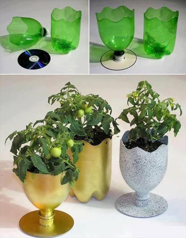15 skvelých nápadov, ako z plastových fliaš vyrobiť lacné kvetináče do záhrady