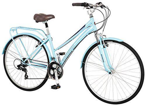 Schwinn Women S Community 700c Hybrid Bicycle Light Blue 16 Inch