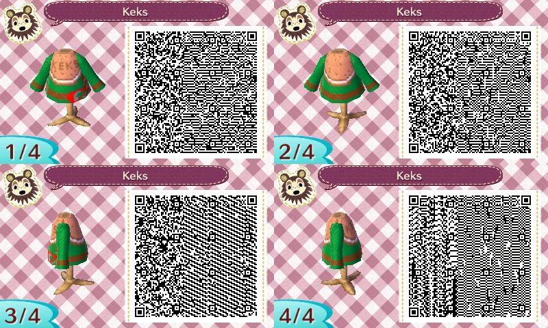 Pulli Keks - Sweater Cockie  - Xmas - qr - ACNL - Broesel - Animal Crossing New Leaf