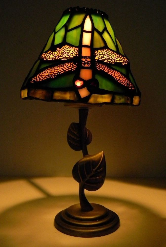 Dragonfly Stained Glass Votive Candle Tea Light Lamp Dragonfly