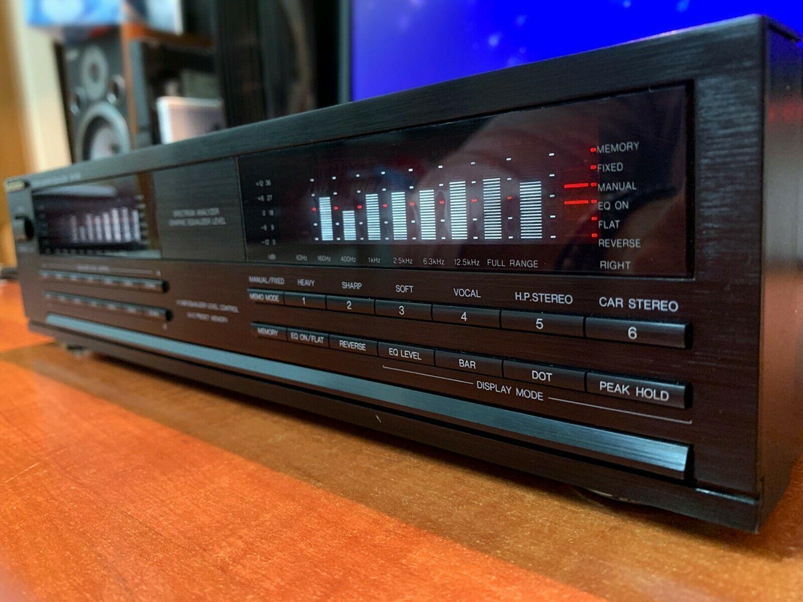 Technics Sh E66 Stereo Graphic Equalizer Vintage Eq Ebay Spectrum Analyzer Equalizer Audio Rack