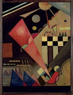 Painter Wassily Kandinsky. Scharfruhiges Rosa. 1924