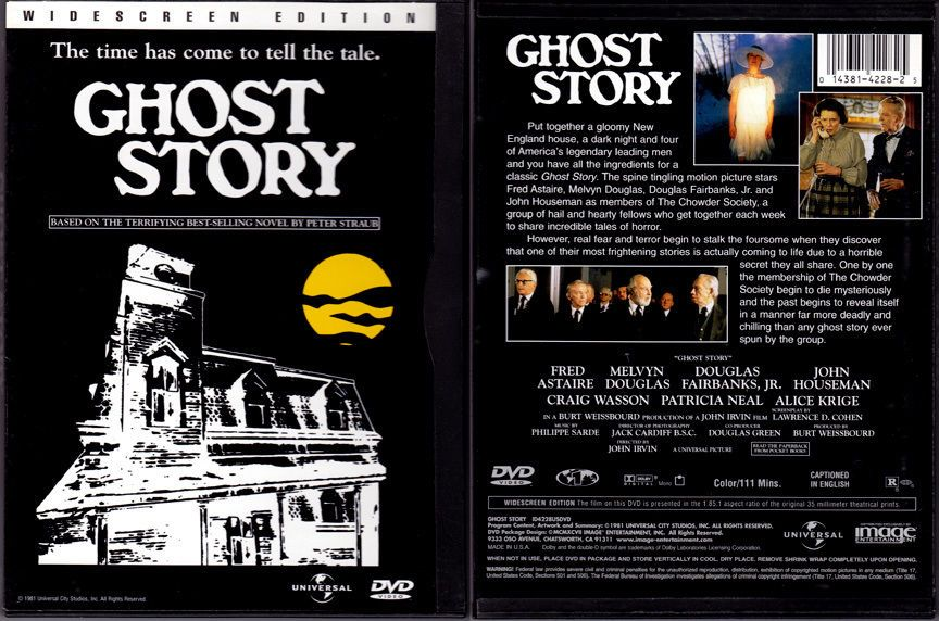 DVD Peter Straub GHOST STORY Craig Wasson Fred Astaire