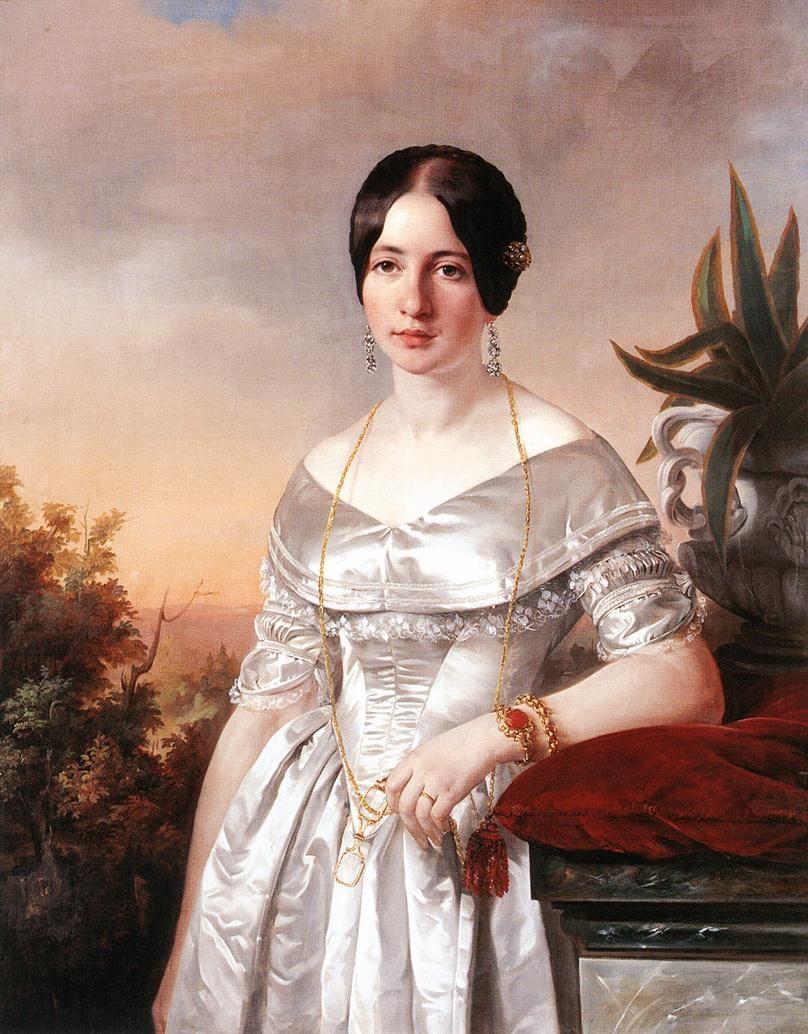 Lady With A Lorgnette Jozsef Borsos 1856 Portrait Painting Victorian Paintings Portrait Art