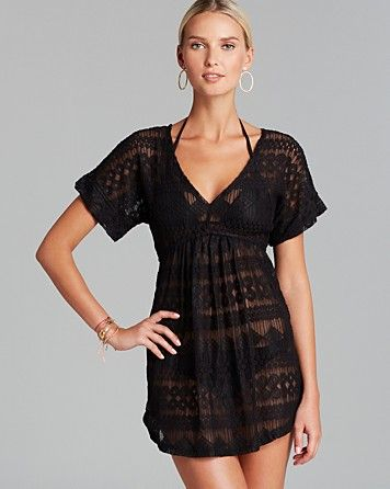 91cbb23ef9770 J. Valdi Vintage Lace Swim Cover Up Tunic Dress | Bloomingdale's ...