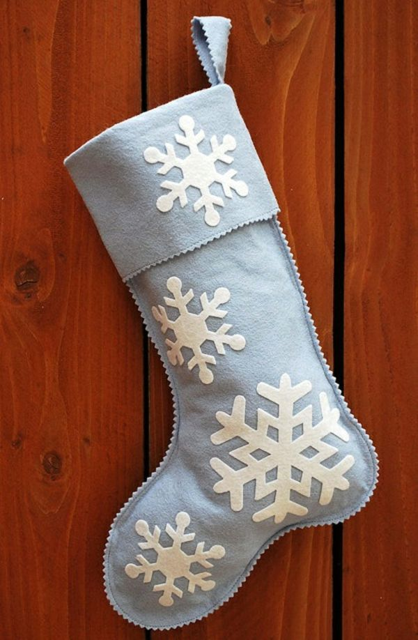 nikolausstiefel nähen aus filz schneeflocken | Weihnachten ...