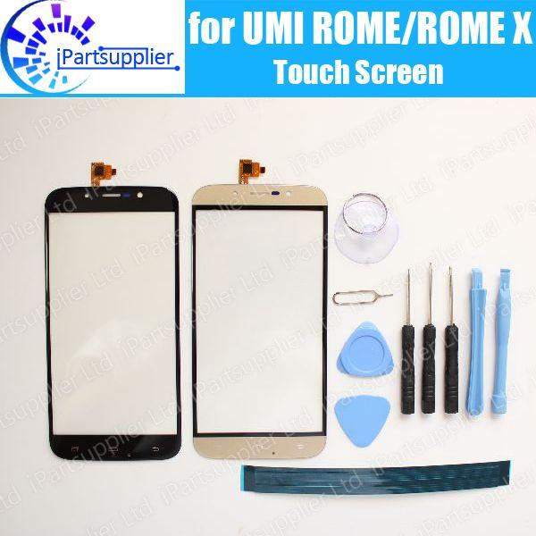 UMI 로마 로마 X 터치 스크린 디지타이저 유리 패널 100% 보증 원래 디지타이저 터치 유리 로마 X + 도구 + 접착제