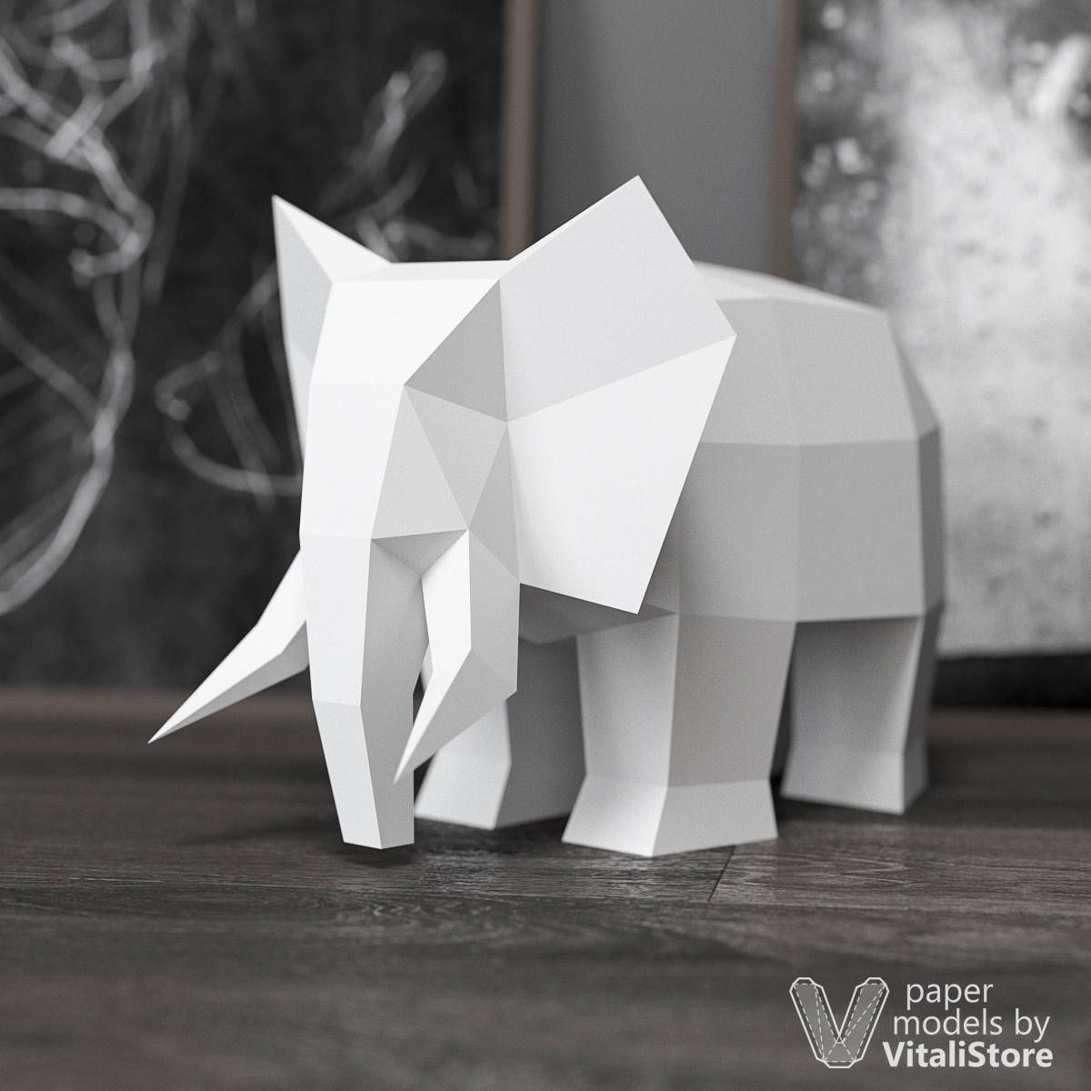 how to make paper elephant