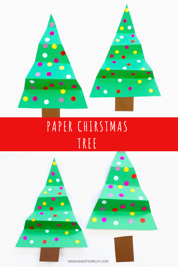 Paper Christmas Tree Christmas Christmas Crafts For Kids