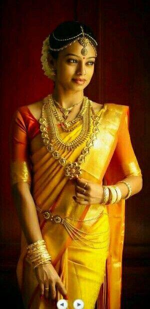 Bride in yellow SAree Beauty of South India Saree