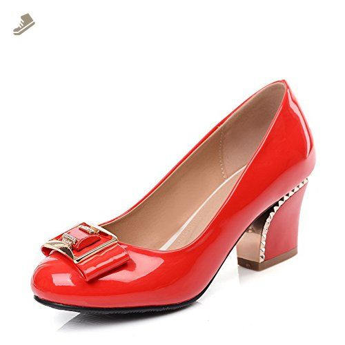 Girls Buckle Round-Toe Patent Leather Pumps-Shoes