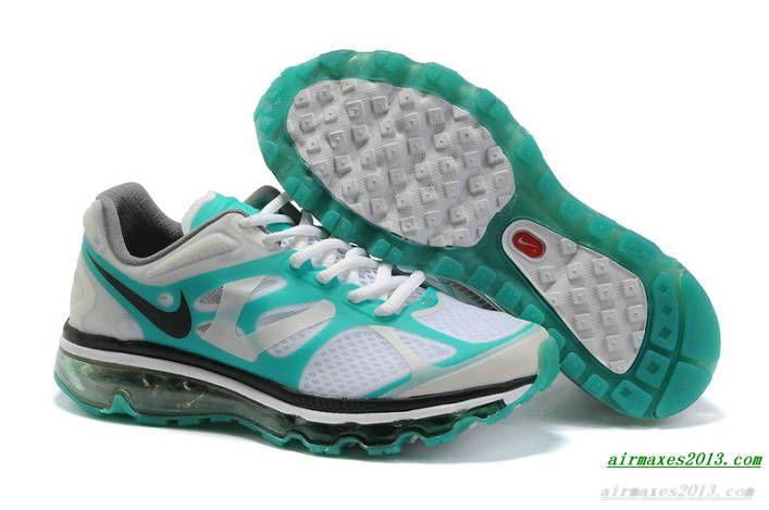 2012 Air Maxes Nike Pure Platinum Stadium Green Black Womens