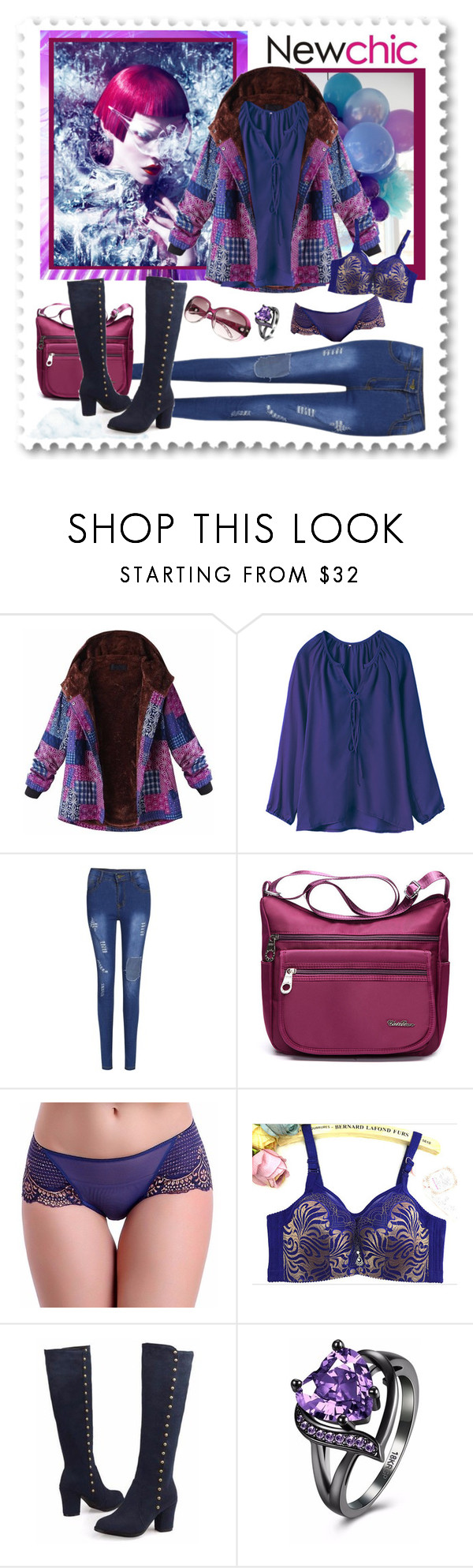 """Newchic 144. (Woman 19.)"" by carola-corana ❤ liked on Polyvore"