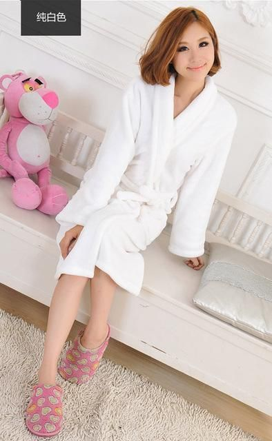 57aff73e05 Winter Autumn Thick Flannel Men S Women S Bath Robes Gentlemen S Homewear  Male Sleepwear