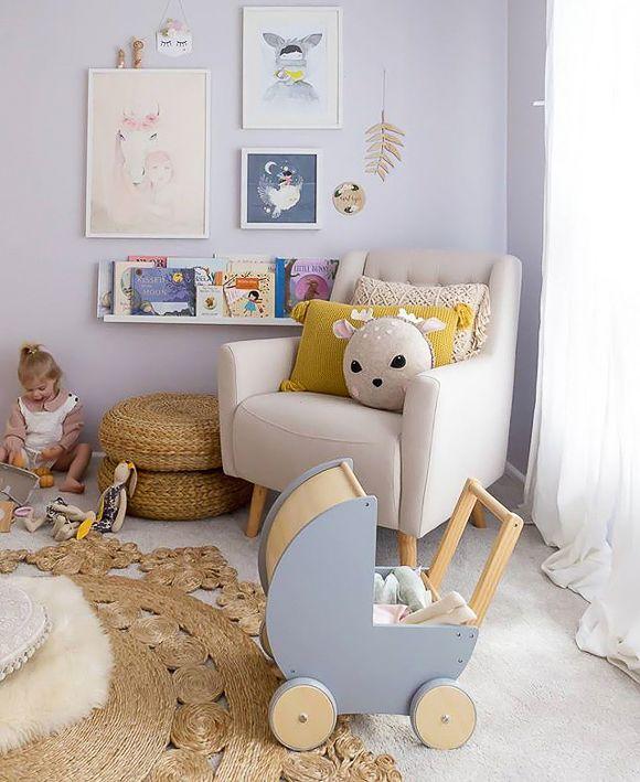 La chambre bébé d\'Indigo | Nursery | Chambre bébé mauve ...