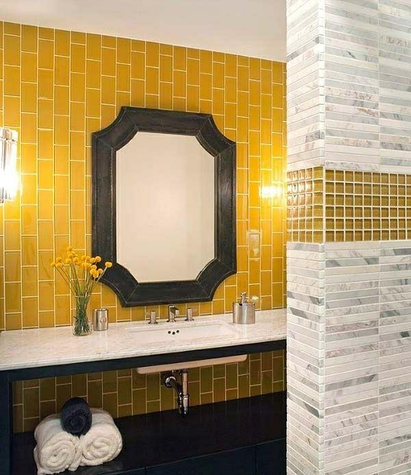 28 Benutzerdefiniert Badezimmer Fliesen Gelb Renovierung