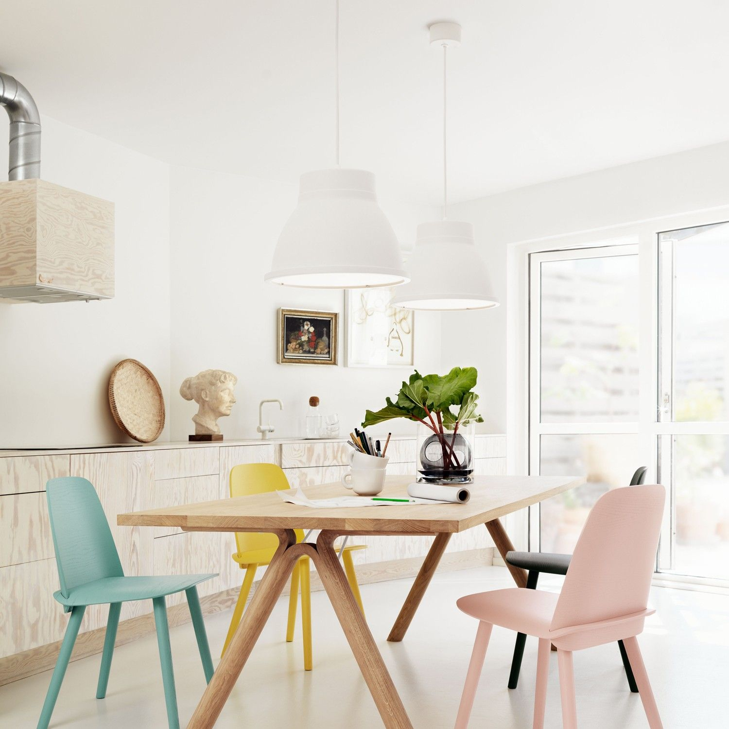 pretty design chairs. These pretty pastel dining chairs add some unique feminine flair to this  simple design