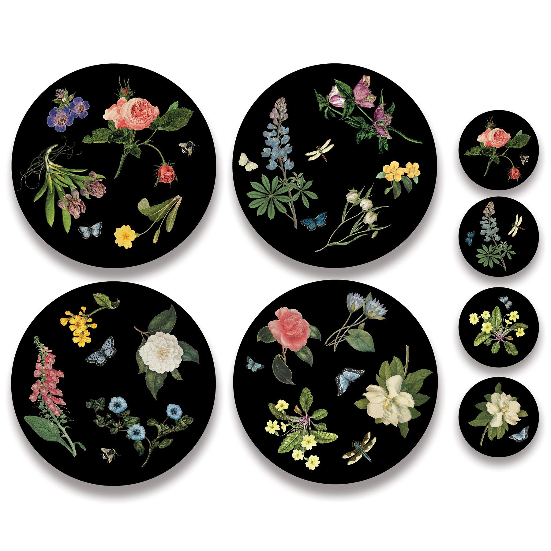 Placemats Coasters Eucalyptus Mats With Baked Melamine Coating Are Heat Proof To 320 Degrees Fahrenheit So Can Be Us Placemats Plates On Wall Plate Wall Decor