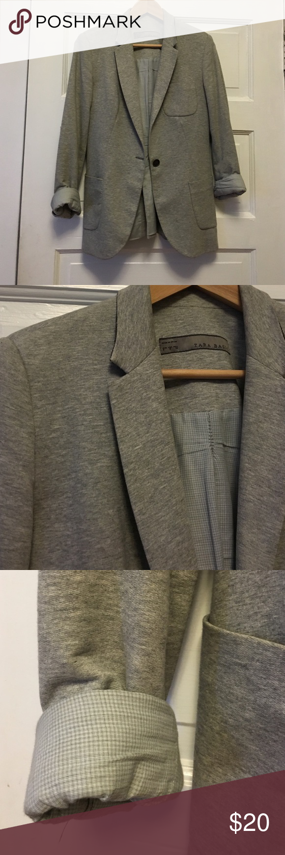 Zara basics blazer Lightly worn cotton blazer with lining. Perfect casual and cool blazer for a polished professional look Zara Jackets & Coats Blazers