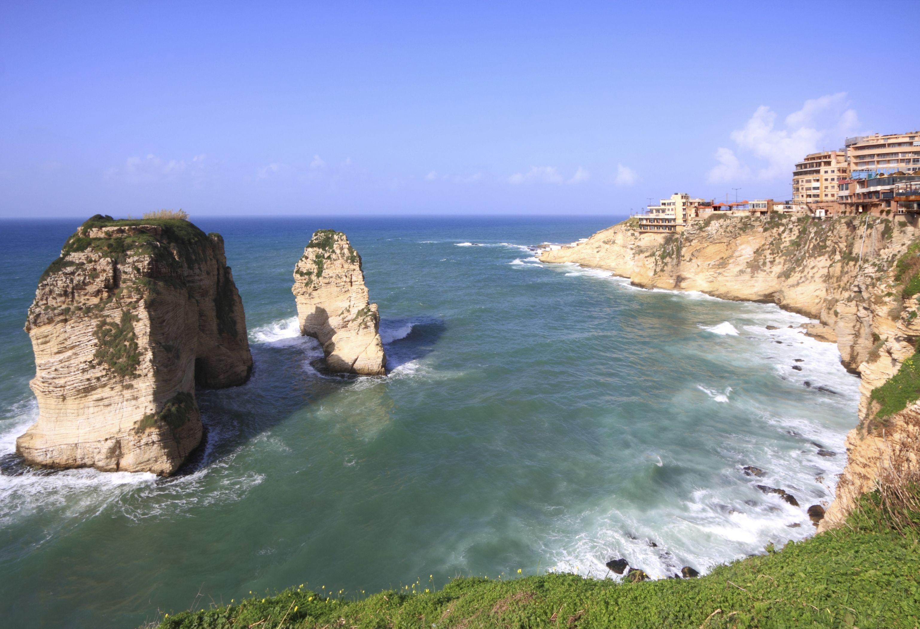 Pigeon Rock of Beirut, Lebanon. My birthplace, and my mother and ...