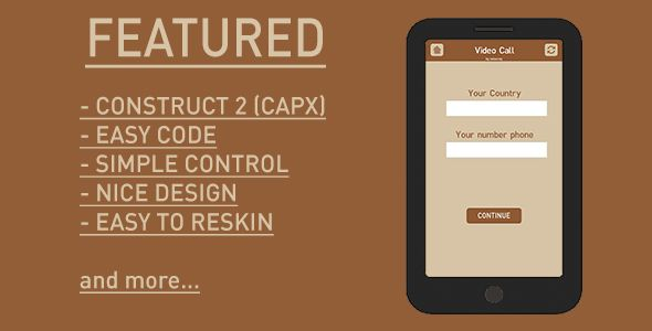 nice Video Contact Prank - HTML5 (Construct two) + AdMob (Complete Applications)