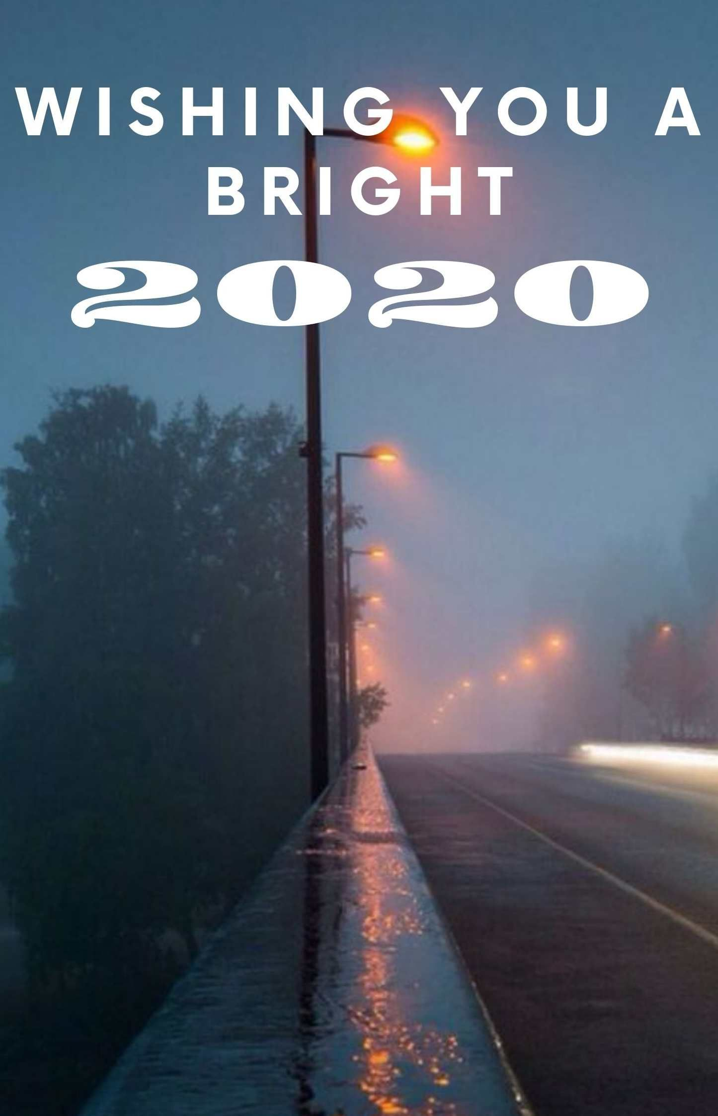 New year 2020 poster for friends and family.