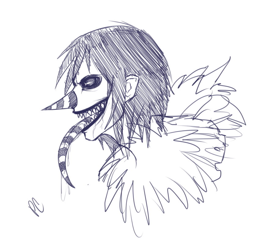 Laughing Jack Profile Sketch By Xpoltergeistcatx On Deviantart Laughing Jack Creepy Art Creepypasta Characters