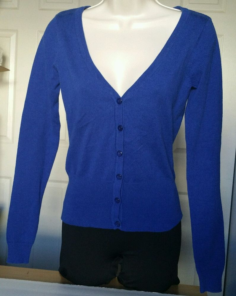 Royal Blue Cardigan RUE21 Women's Jacket Sweater Sz Small S navy ...