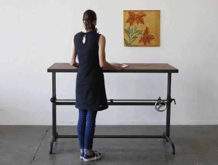Adler Adjustable Height Desk By Ohio Design