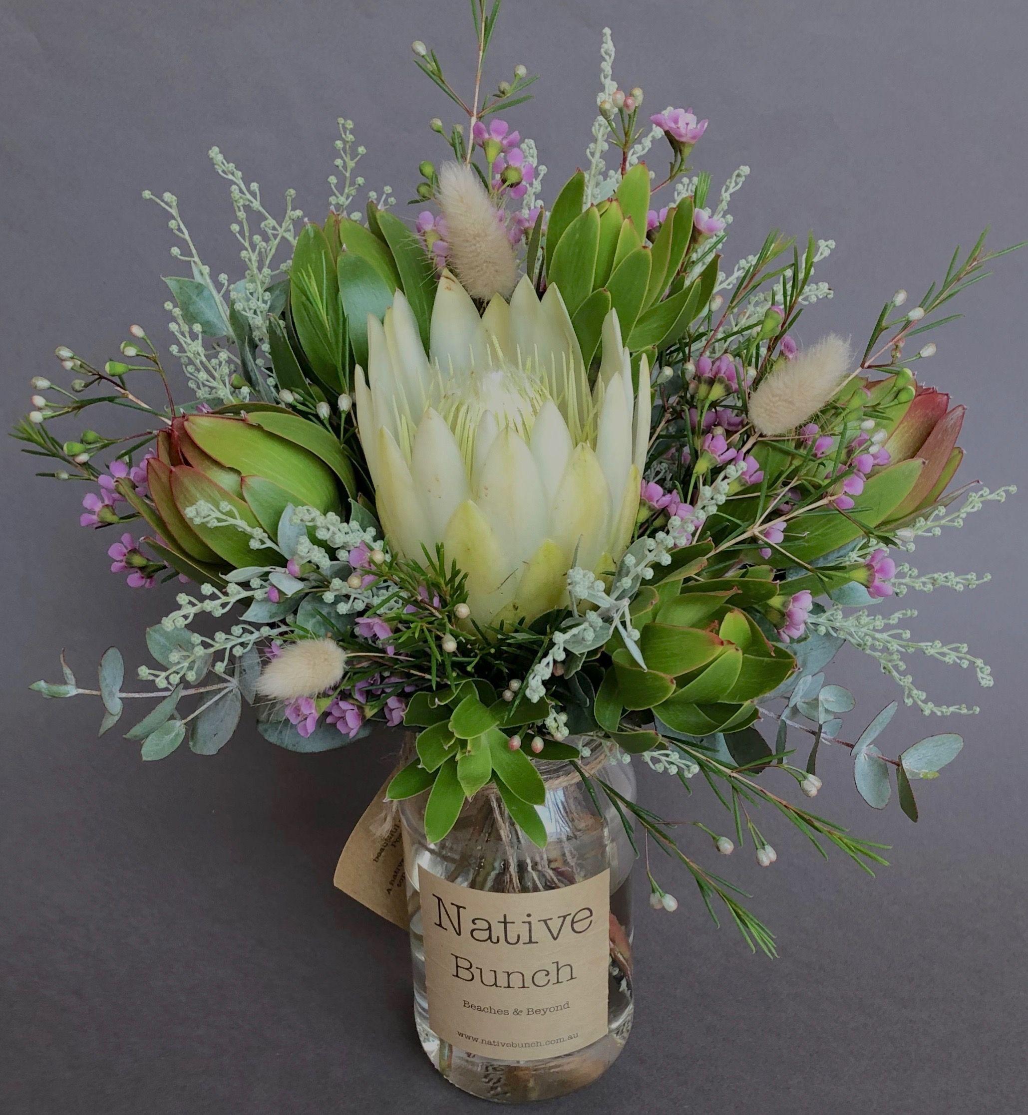 Native Flower Posy By Native Bunch In 2020 Table Flower Arrangements Australian Native Flowers Flower Delivery