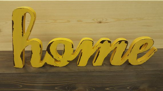 Home Wood Word Cutout, Laser Cut Word, Custom Cursive Word Wall ...
